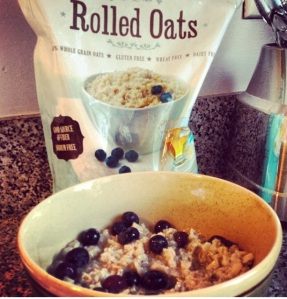 Oatmeal w/ Blueberries